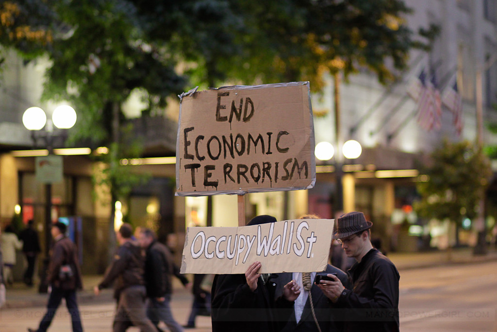 occupy seattle - end economic terrorism - occupy wall st.