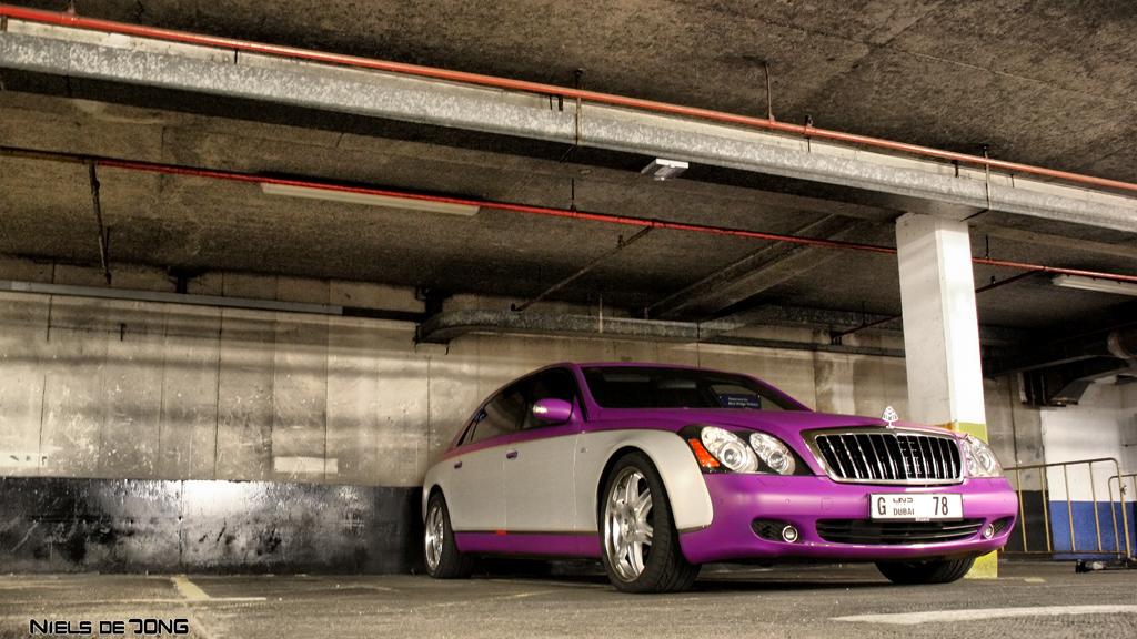 maybach 62s | crazy matte purple / grey maybach | niels de jong | flickr