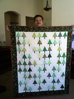Hubby's first quilt - Little Forest Quilt