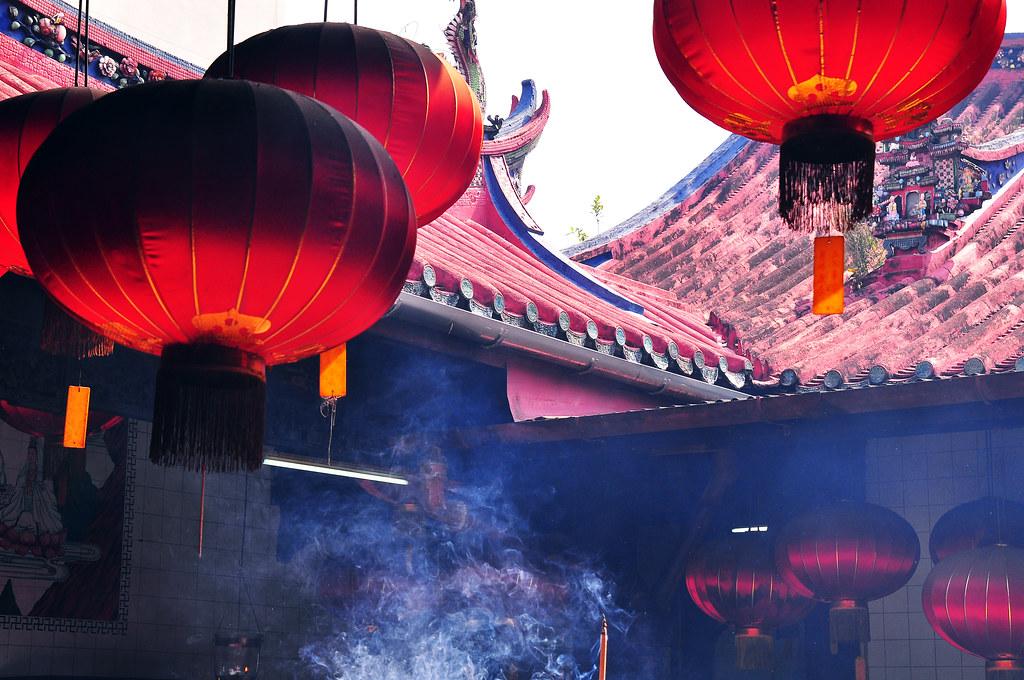 Lanterns, Kuan Yin Temple, Penang