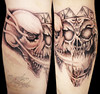 Freehand Skull tattoo Milosh® style (next day) Miguel Angel Custom