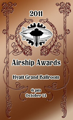 The ticket art for the Airship Awards at Steamcon III.