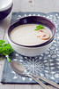 Potato cream soup with champignons