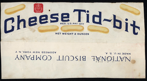 Nabisco - Cheese Tid-Bit - partial package wrap - 1930's 1940's by JasonLiebig