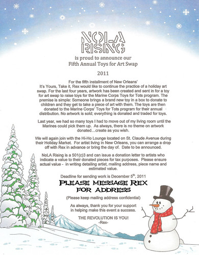 IYTI - NoLA 5 - Art for Toys Swap Holiday Kick Ass Extravaganza (& shit like that)