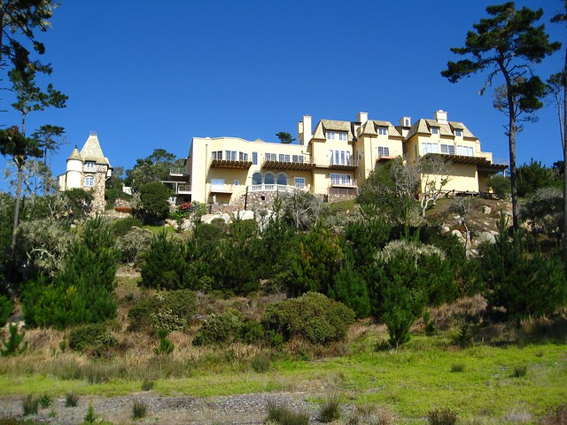 Castle on a hill 17 mile drive monterey peninsula for 17 mile drive celebrity homes