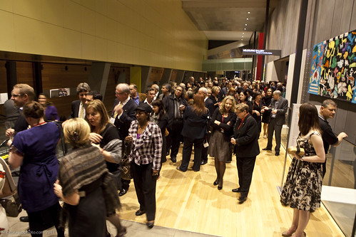 Delegates at the Melbourne Museum for the official World Summit dinner