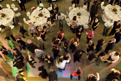 Dancing to the live band at after the Summit Dinner at the Melbourne Museum