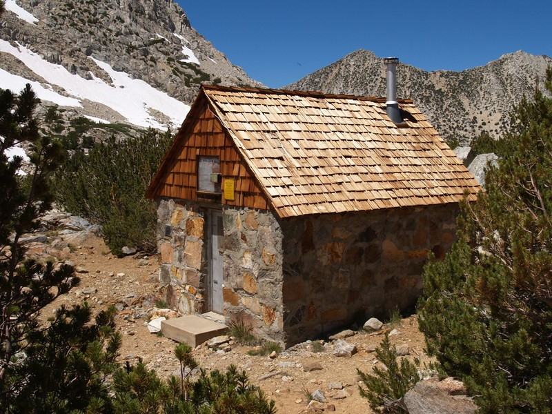 Bishop Pass Trail Snow Survey Shelter