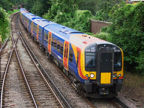 South West Trains Class 450 near Kew Bridge