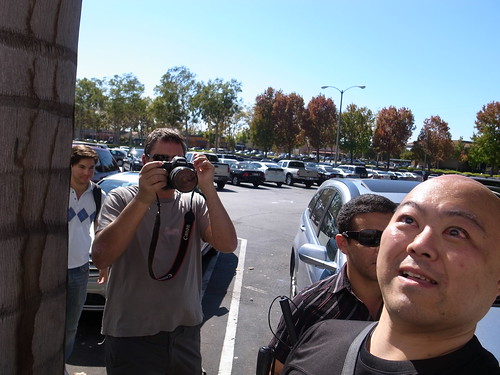 Neil taking photo of me at  the Lakewood Mall parking lot