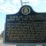 Town of Geraldine Historic Marker