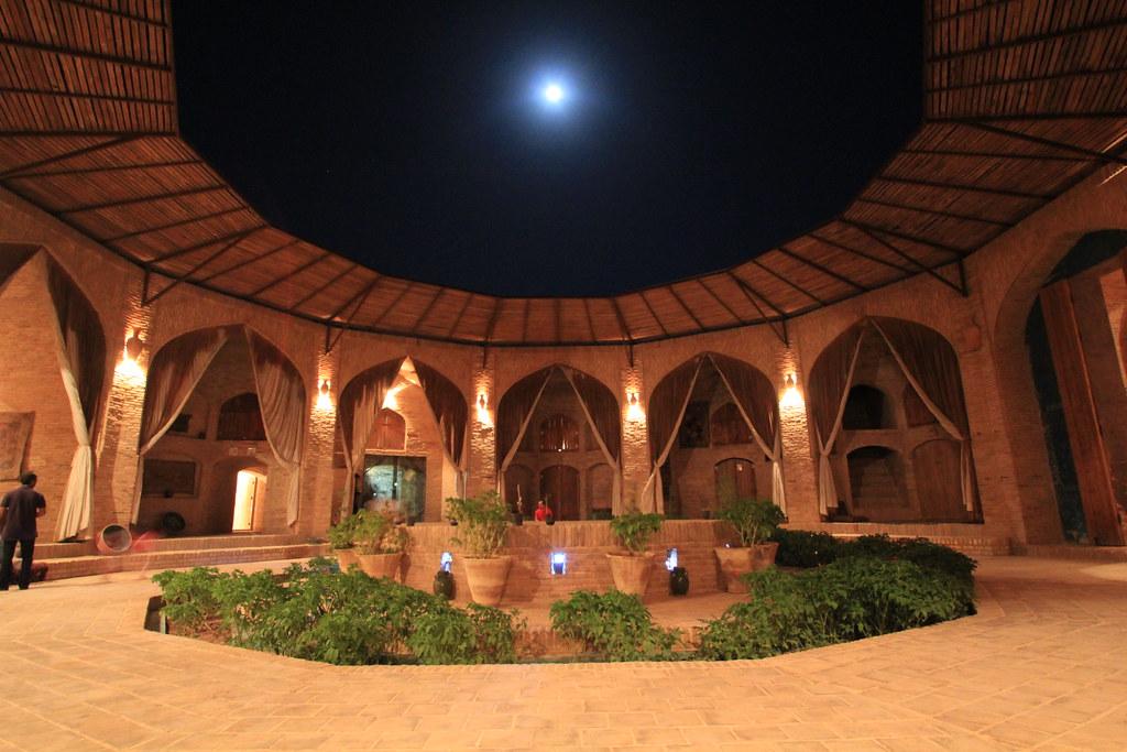 Courtyard of the Zein-o-din Caravanserai