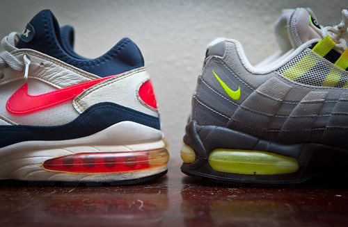 Air Max OG 1993 and 1995 - Flame Red & Neon