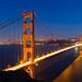 Golden Gate Bridge at blue hour