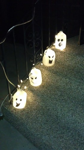 recycled milk jug ghost lanterns