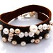 Leather Studded Pearls