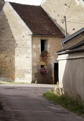 CHATEL-CENSOIR village & church, Burgundy, France
