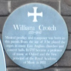 Photo of William Crotch green plaque