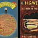 Dell Books 201 - H G Wells - The First Men in the Moon (with mapback) by swallace99
