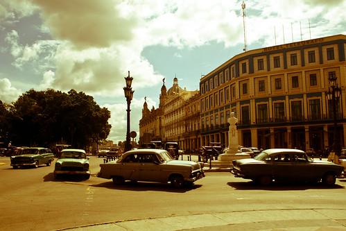 Praça em mil novecentos e antigamente, Havana, Cuba