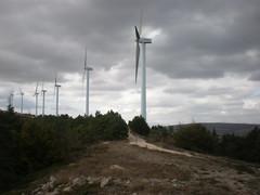 """Peña Alta"" wind park at windstorm"