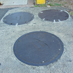 Neenah Foundry Co. manhole cover site near the baseball stadium