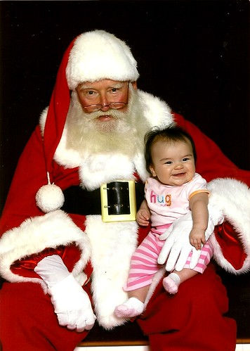 Izzy's First Picture with Santa!