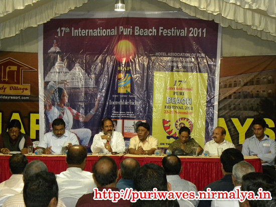 Press  Conference International Puri Beach Festival 2011