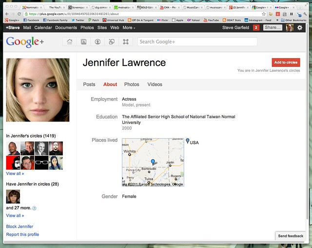 NOT Jennifer Lawrence - Google+