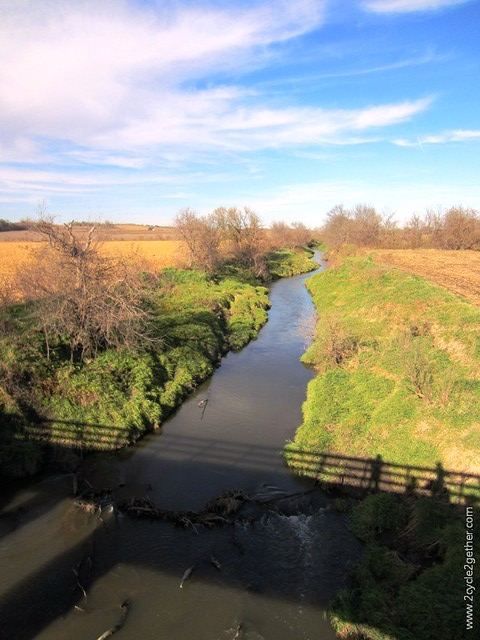 View from Wabash Trace Trail Bridge