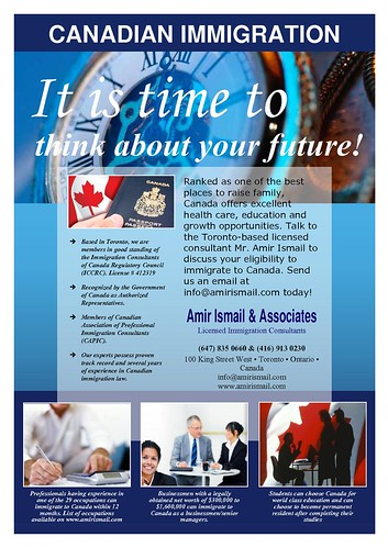 It's time to think about your future - Immigration to Canada