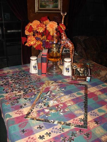 Family Room table - Autumn decor