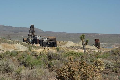 gold nevada historic mines goldfield headframes