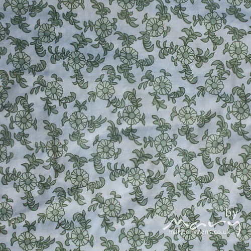Green floral pillowcase