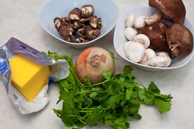 鮮菇燉飯 食材