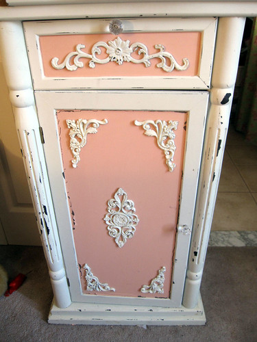 Up-Cycled Frou Frou Cabinet!