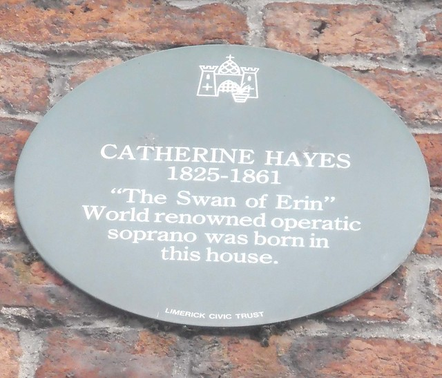 Photo of Catherine Hayes green plaque