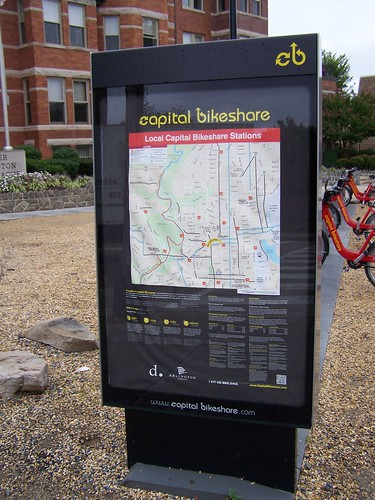 Capital Bikeshare local station map