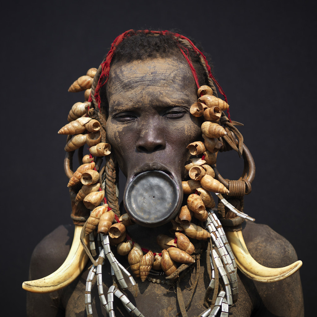 Fluidr Mursi Woman With Lip Plate Ethiopia By Eric Lafforgue
