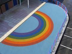 Rainbow design soft surface