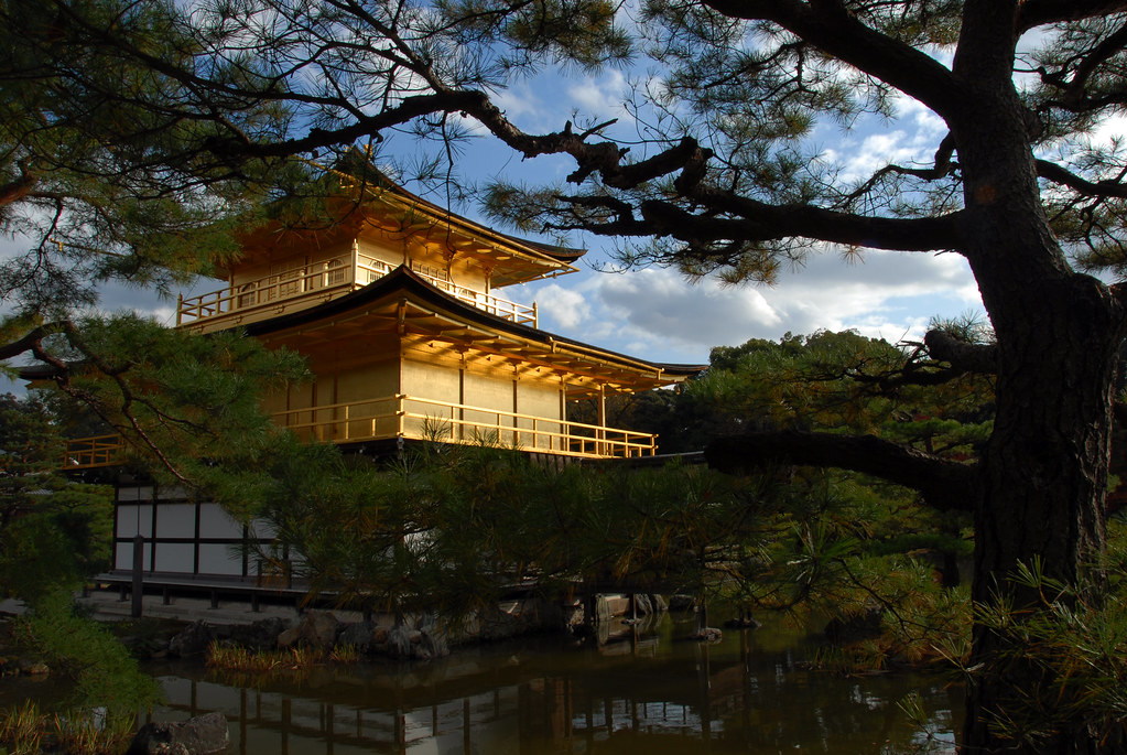 Kinkaku-ji (金閣寺, Temple of the Golden Pavilion), also known as Rokuon-ji (鹿苑寺, Deer Garden Temple) UNESCO World Heritage site 金閣寺放火事件