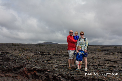 Hawaii family lava