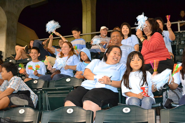 <p>Leeward fans at the the UH AUW Softball Tourment at Les Murakami Stadium on Sept. 30, 2011</p>