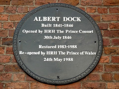 Photo of Charles, Albert of Saxe-Coburg and Gotha, and Albert Dock, Liverpool black plaque