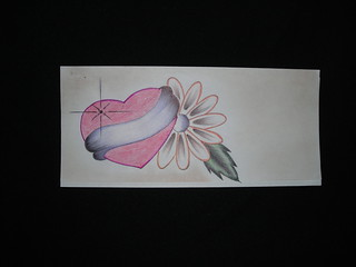 Heart and flower. Jail art.