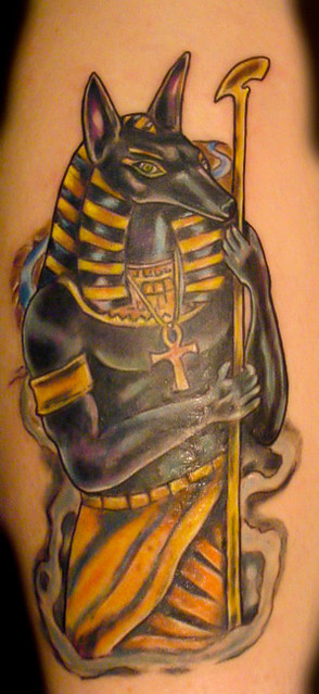 Anubis egyptian god flickr photo sharing for Egyptian tattoo flash