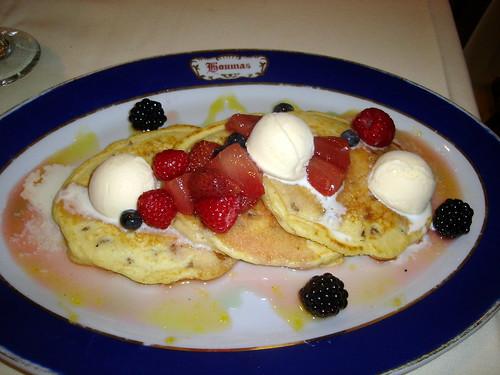 Cornmeal Peacan Pancakes