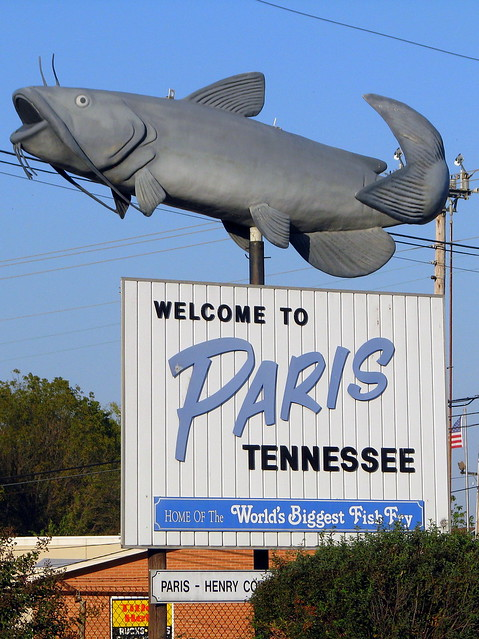 Welcome to Paris, TN Catfish sign