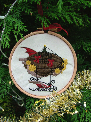 Santa's Airship Steampunk Christmas Decoration